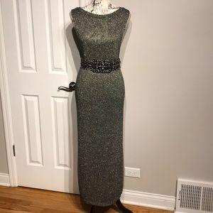 Knit Shiny Long Top Blouse Crew Sleeveless Fit 3XL